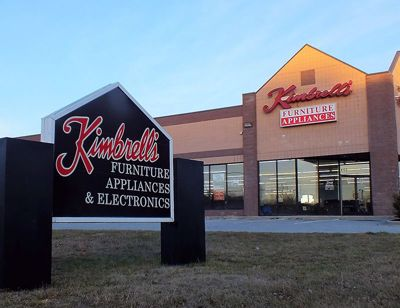 Entrance to Kimbrells Furniture in Asheboro, NC